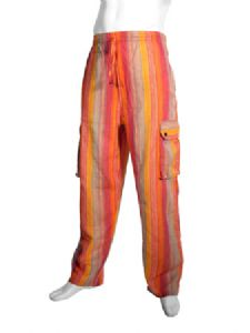 Hippy Trousers~Ethnic Unisex Stripey Combat Trousers~Fair Trade By Folio Gothic Hippy~NTR2